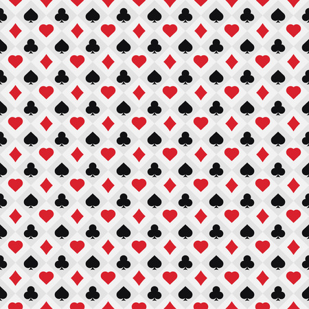 Poker card pattern .  Gamble seamless background . Ilustração