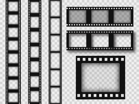 35mm retro film strip . Old grunge filmstrip. Ilustrace