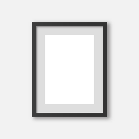 Picture frame . Empty blank vector  photo frame .