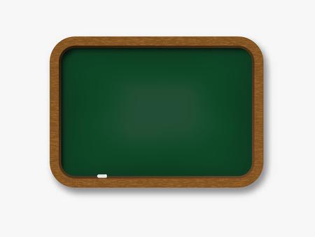 Chalkboard wooden realistic . Retro school board .  Back to school template . Ilustrace