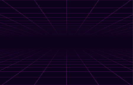 80s retro neon  space travel grid cyberpunk background .