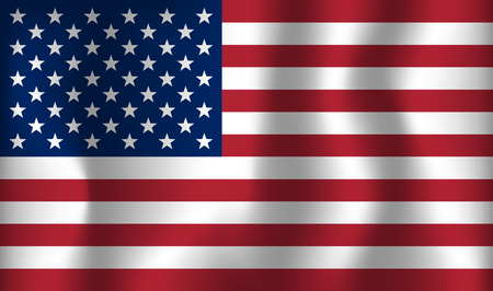 USA vector flag . United States of America  national  day banner . Ilustração
