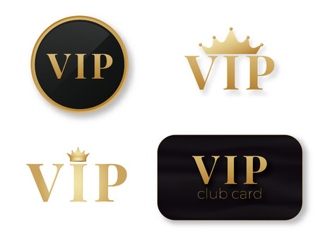 Vip club logo. Exclusive  vip person card . Premium quality . Reklamní fotografie - 123594861