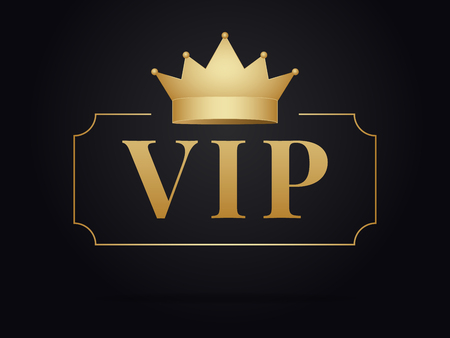 Vip member golden emblem .  Vip gold design . Ilustrace