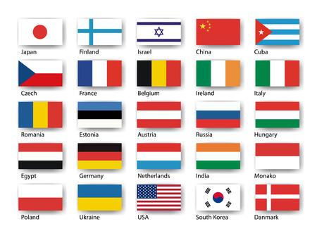 Wektor zestaw flag