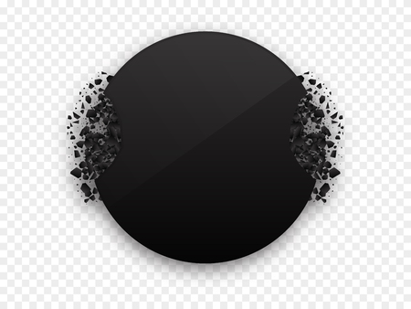 Circle black explosion black vector banner