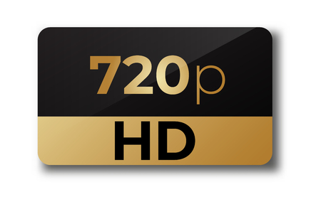720 hd dimensions of video . Hd video sign.