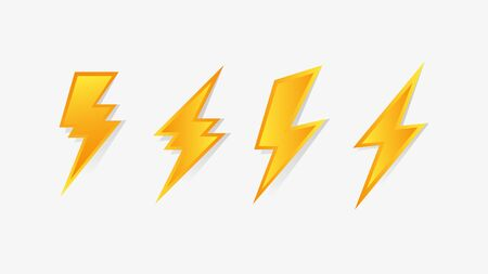 Flash thunderbolt icon. Lightning bolt vector icon .