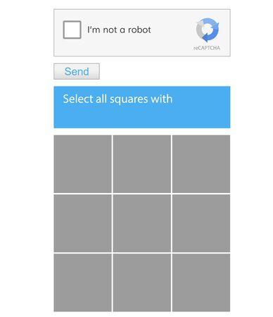 Robot spam check .  Choose images vector template .