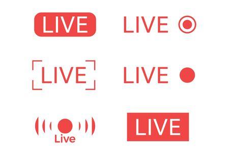 Icône de diffusion vidéo en direct