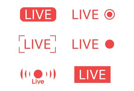 Icono de transmisión de video en vivo