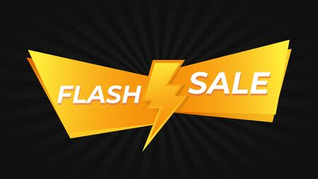 Flash sale promo offer banner . Discount poster vector.