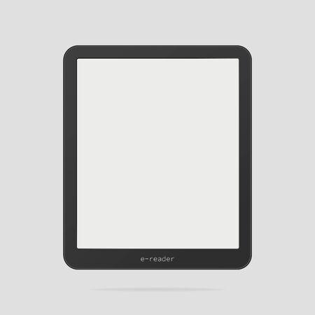 Ereader vector template . Black ebook empty template