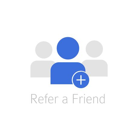 Referral program icon . Reference link concept vector