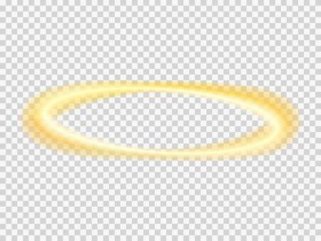 Halo engel vector transparante nimbus. Heilige ring.