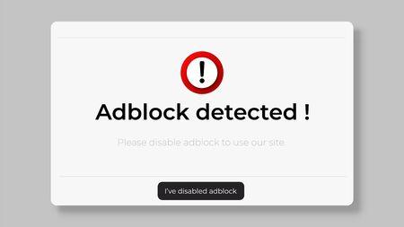 Stop adblock website window.  Stop ad blocker to access website .