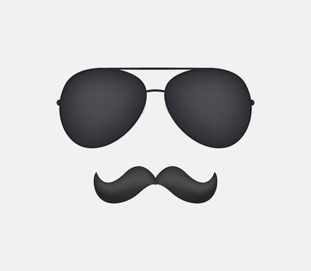 Sunglasses and mustache vector clipart . Masking concept . Ilustrace