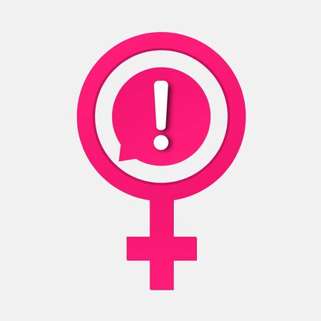 Women issues icon . Women psychology  depression problems .