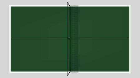 Table tennis top view . 向量圖像