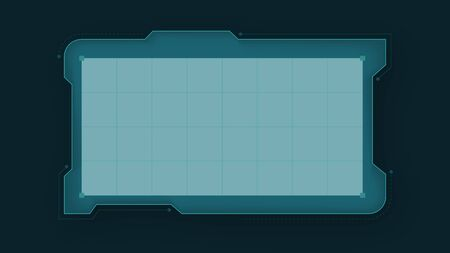 Digital futuristic frame . Hi tech hud vector grid Иллюстрация