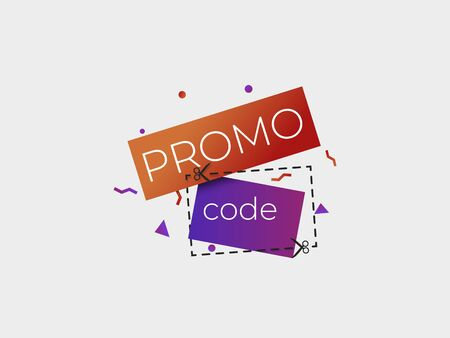 Promo code discount icon . Vector coupon illustration .