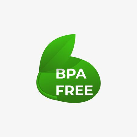 Bpa free icon. No bisphenol badge . Eco bottle .