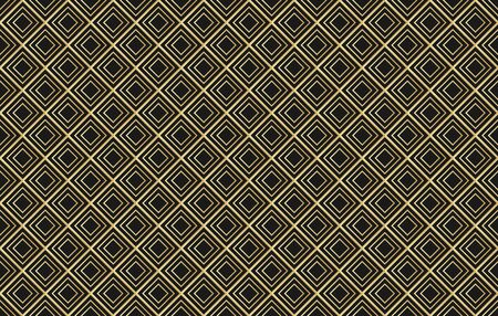 Vector abstract diamond seamless pattern . 30s wallpaper ornament .