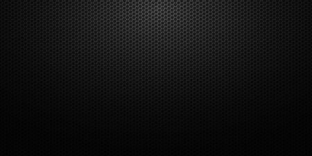 Dark abstract background with honeycomb hexagons. Cell black pattern .