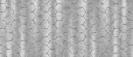 Stainless light backdrop large hexagons. Light seamless monochrome background web modern nickel large hexagons design carbon geometric vector texture futuristic .