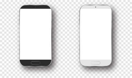 Mobile phone mockup . Blank white smartphone Vectores