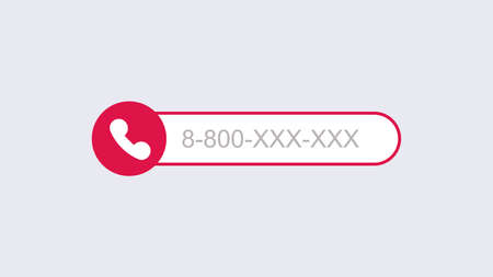 Phone call template. Mobile call with subscriber number modern digital user connection smartphone graphical interface with conversation recording and blocking unwanted vector person.