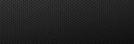 Metallic scratched black background. Minimalist ornament surface with round black pattern and monochrome mesh vector textured