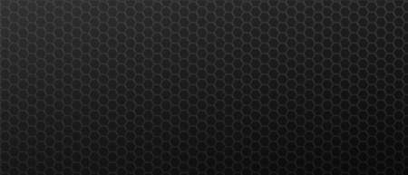 Geometric black decoration hexagons background. Brutal polygonal gradientl tiles laid in abstract texture in monochrome vector Ilustracja