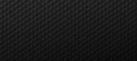 Dark holes grid background. Gradient ornament surface with round black tracery and monochrome mesh vector metal