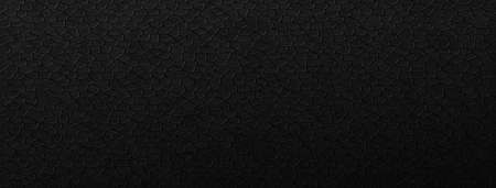 Black pattern leather polygons background. Dark tiles laid out in geometric rows with carbon gradient and natural vector designs