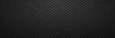 Black lines square pattern on metal background. Dark abstraction tracery running in line vector tilt in decorative style Illustration