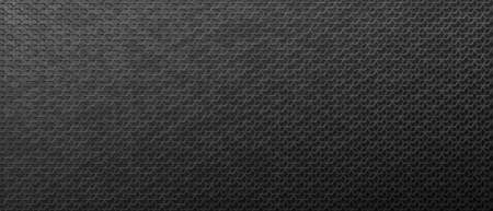 Dark metallic pattern from connected rhombuses background. Carbon black textures with geometric chain mail weaves with nickel durable vector fiber.