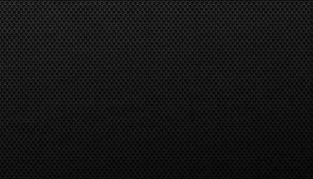 Black grid of swirling hexagons background. Brutal geometric gird polygonal tiles laid in abstract texture in monochrome vector