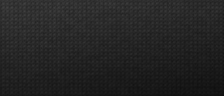 Carbon tiled square tracery background. Geometric dark pattern running in line vector tilt in decorative style Standard-Bild