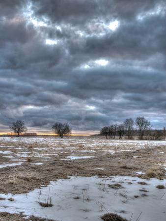 daremny: Jest wcześnie rano i żółte światło od wschodu jest słabo widoczna na horyzoncie Zdjęcie Seryjne
