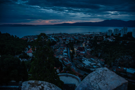 Picture of Rijeka which is a pretty impressive town and port. View of city from Trsat.