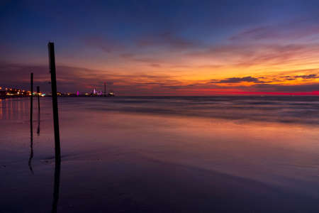 Just before dawn looking out over Galveston Bay