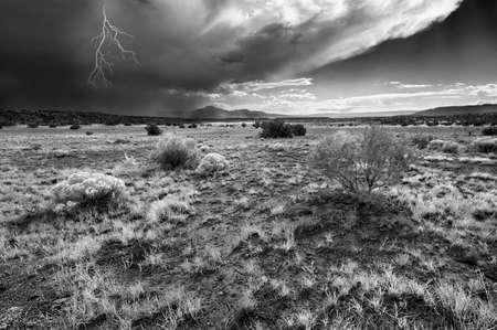 non urban: Lightning storm in the New Mexico Desert