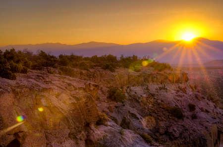 countryside landscape: Golden sunrise over Bandelier National Monument