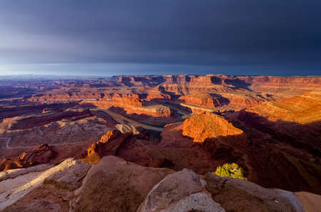 canyonland: Overlooking Dead Horse Canyon near Moab, Utah on a stormy morning