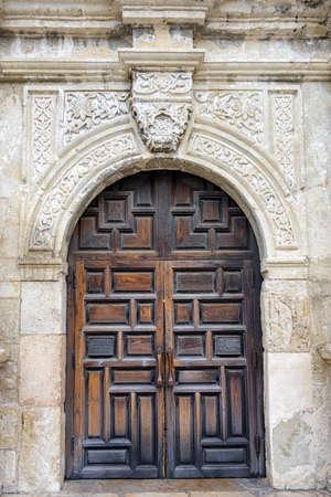 entryway: Entryway into the historic Alamo in San Antonio, TX