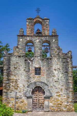 Exterior view of Mission Espada chapel in San Antonio, TX Reklamní fotografie