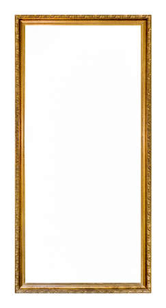 blank center: Ornate gold colored home picture frame with blank center (copy space) Stock Photo