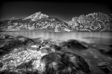 jenny: Jenny Lake in Grand Teton National Park, WY Stock Photo