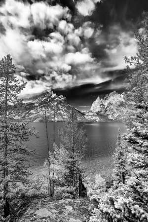 jenny: Calm summer afternoon on Jenny Lake in Grand Teton National Park, WY